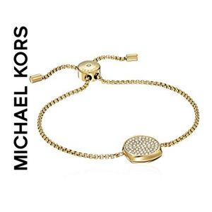 Michael Kors Beyond Brilliant Gold Slider Bracelet